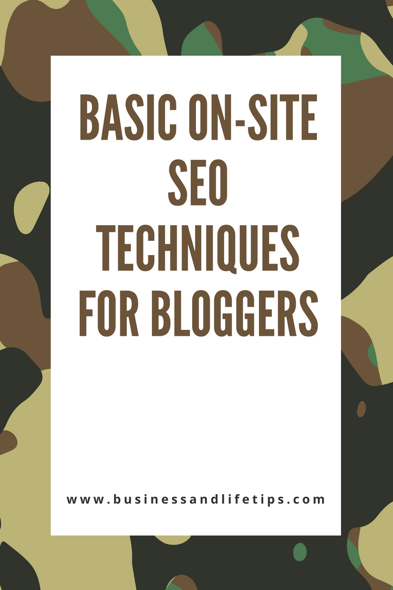 Basic on-site SEO techniques