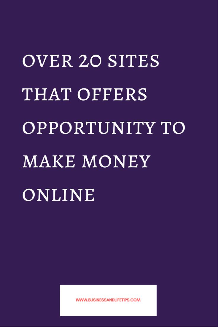 Websites offering opportunities to Make money online