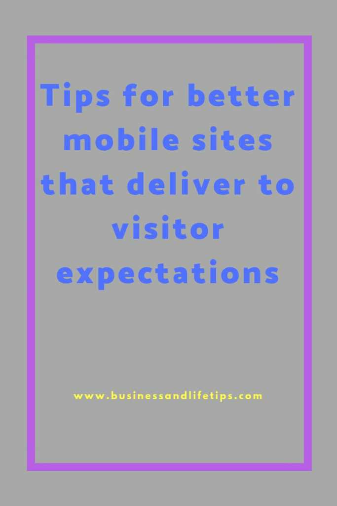 How to optimize your website for your mobile users