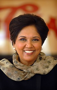 Indra Nooyi climbed the ranks quickly in the business world, and has also worked with the Boston Consulting Group, Motorola, and Asea Brown Boveri.