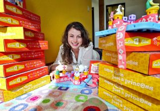 Debbie Sterling with her GoldieBlox Toys.