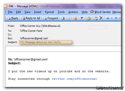 Instant Productivity Tip: Modify the Subject Line of Messages in your Outlook Inbox [Free Tutorial]