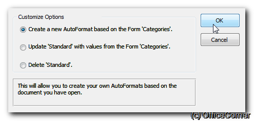 Create a new AutoFormat based on the current form - Create and apply your own AutoFormat style to Microsoft Access forms
