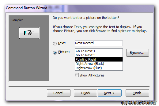 Choose the appearance of your command button - Make Microsoft Access forms more user-friendly with big navigation controls