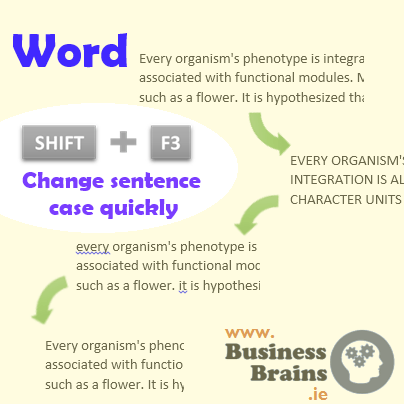 Word & Outlook Tip: Change Sentence Case with a Shortcut