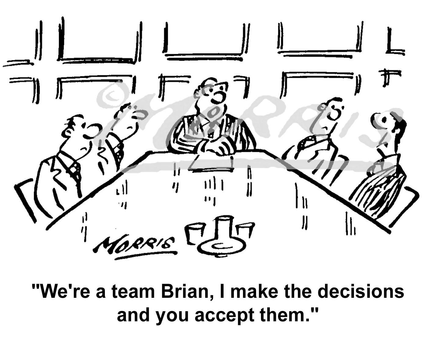 Boardroom Cartoon Ref Bw