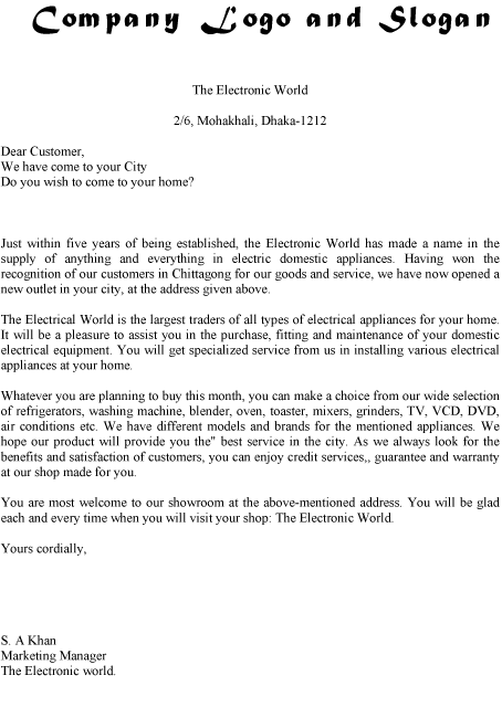Circular Letter Sample