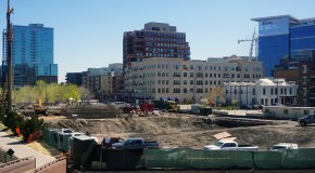 Work in full swing on apartment high-rise