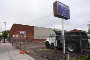 The former Elitch Lanes is being converted into a grocery store. Photo by Burl Rolett.