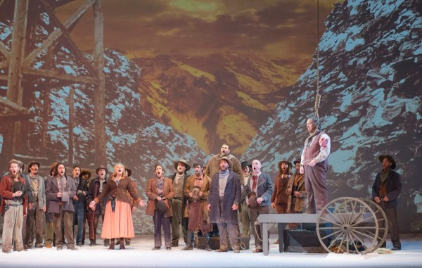 Production photograph of Opera Colorado's new production of Puccini's La Fanciulla del West. (Courtesy Opera Colorado) Photographer: Matthew Staver Photo ID #DSCF7546r.jpg