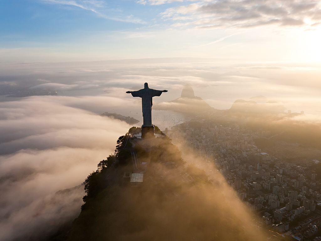 The best places to visit in Brazil     Business Destinations     Make     Comments An aerial view of Christ the Redeemer  Rio de Janeiro  Brazil  hosts a whole