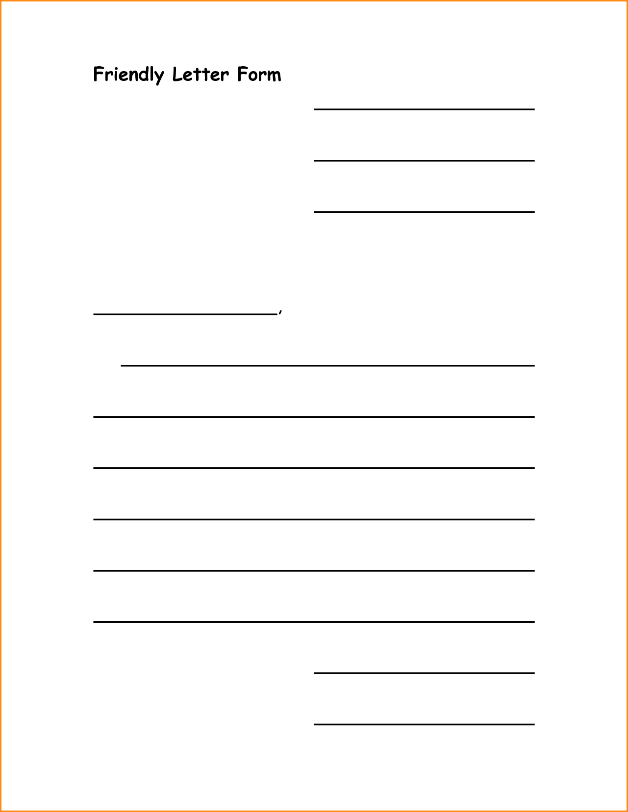 Letter Template Business Form Letter Template