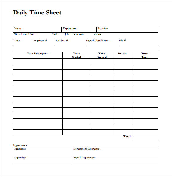 Timesheet Template Free Business Form Letter Template