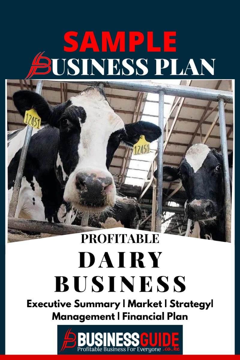 dairy farming business plan sample pdf