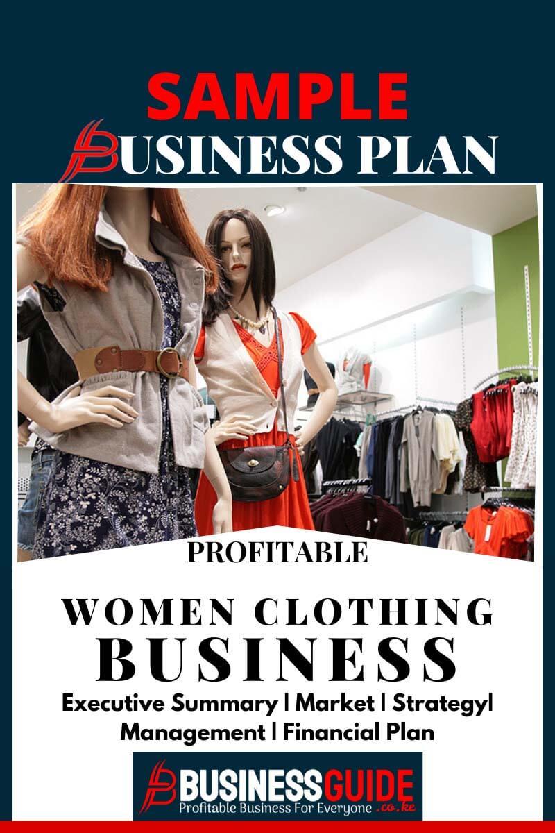 women's clothing boutique business plan sample