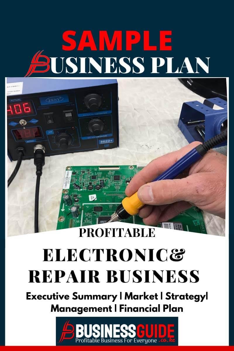 electronics business plan pdf
