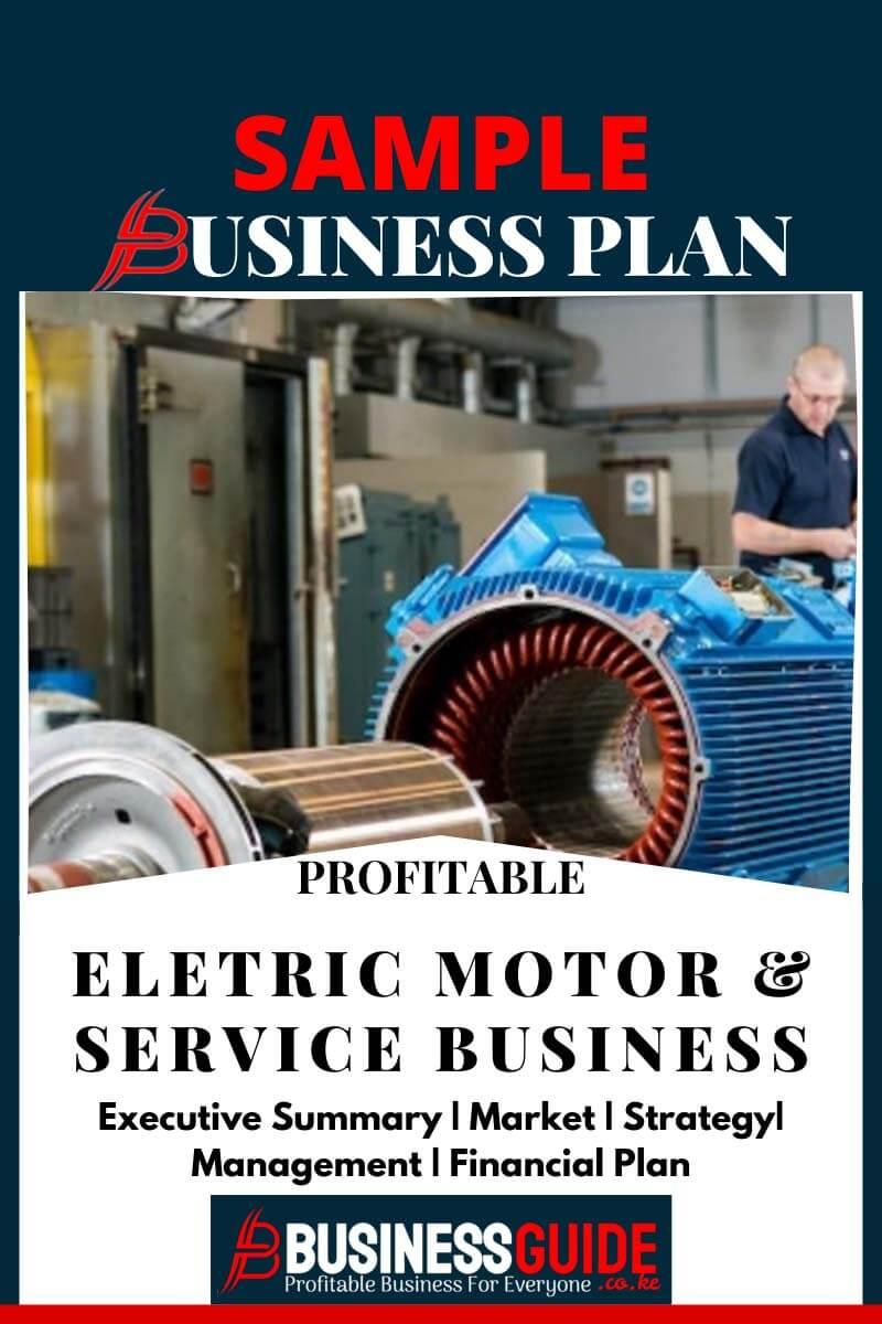 electrical motor business plan sample