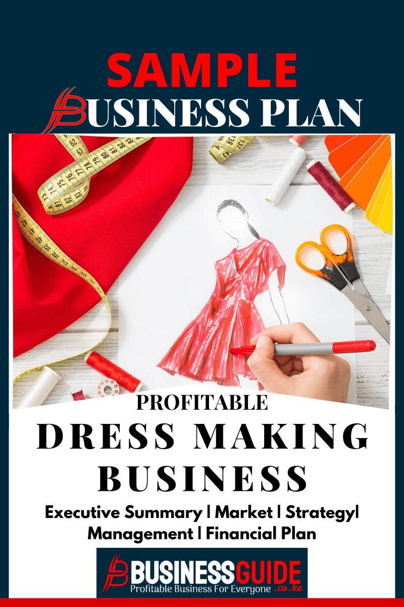 dressmaker business plan sample pdf