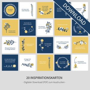 "Inspirationskarten - ""Flowers"" (Digital Download)"