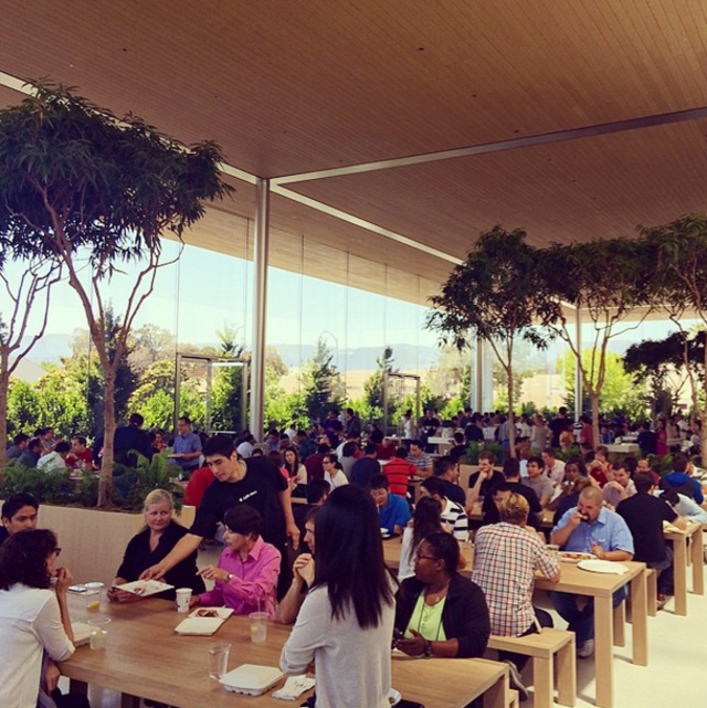 Behind the scenes, Jobs was making some big changes for Apple employees, too: Under Jobs, the Apple cafeteria got much better food, and employees were barred from bringing their pets to the campus. He wanted everybody focused on Apple.