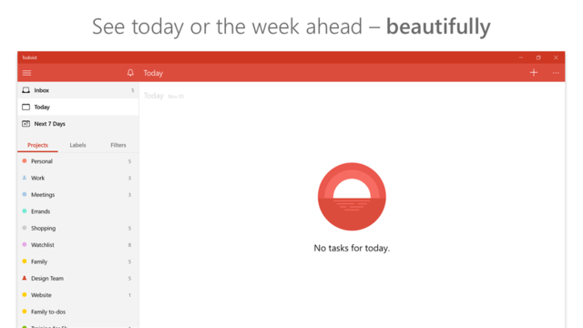 Todoist is a virtual to-do list