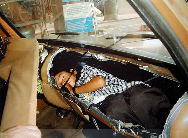Some who knew they couldn't pass legally tried to hide themselves. Agents discovered the sleeping boy pictured below inside the dashboard of a car coming from Mexico in 2003.