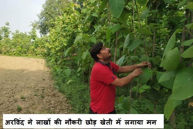 Arvind quit his job of millions and set his mind on farming