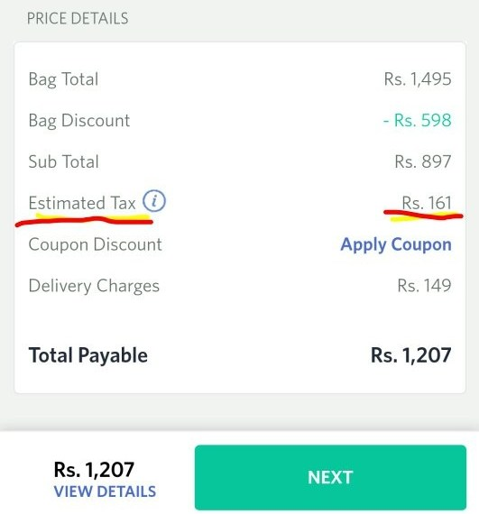 Myntra Charging Addition VAT