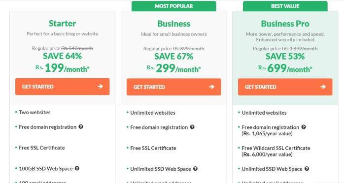 Hostpapa shared web hosting plans