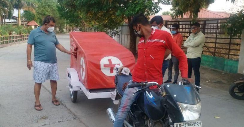 Engineer Made Bike Ambulance