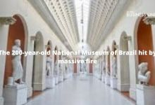 The 200-year-old National Museum of Brazil hit by massive fire