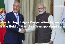 India, Portugal signs Cooperation Agreement in the field of Maritime Transport and Ports