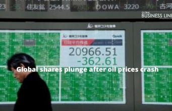 Global shares plunge after oil prices crash