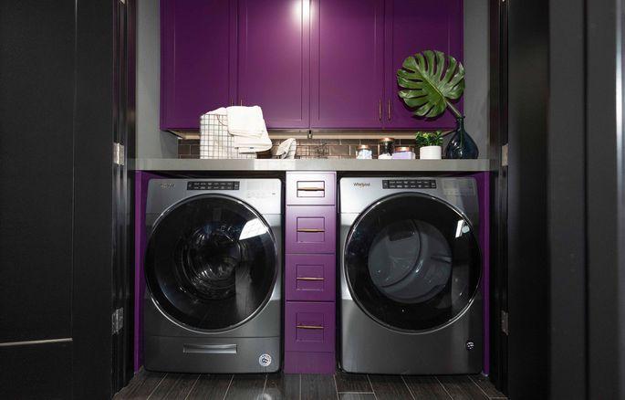 Plum purple laundry suite