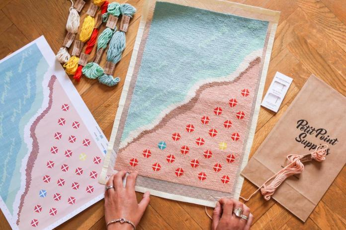 Miami Beach Petit Point kit from We Are Knitters