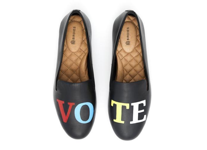 Birdies, vote, vote shoes