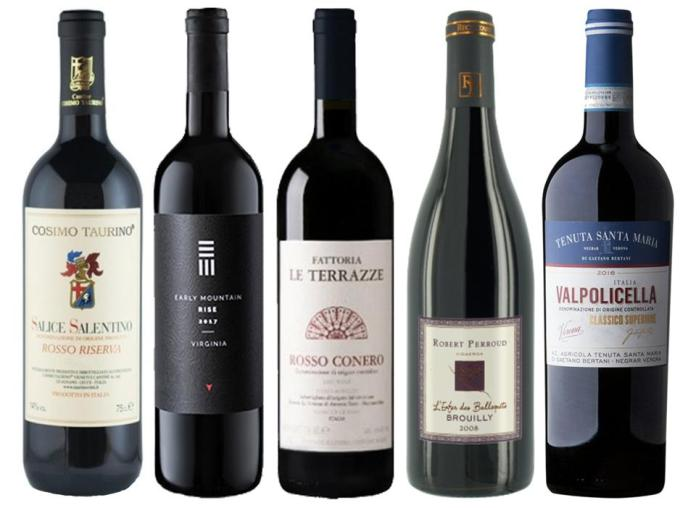 Thanksgiving reds can be deeper for dark roasted meats or after pie with hard cheese