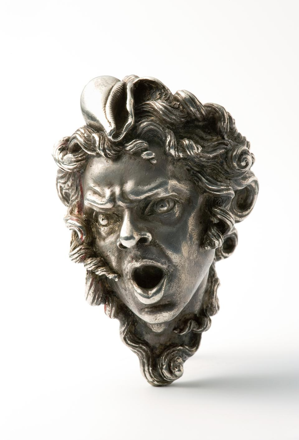Sterling silver merman ring by Danish artist Arje Griegst.