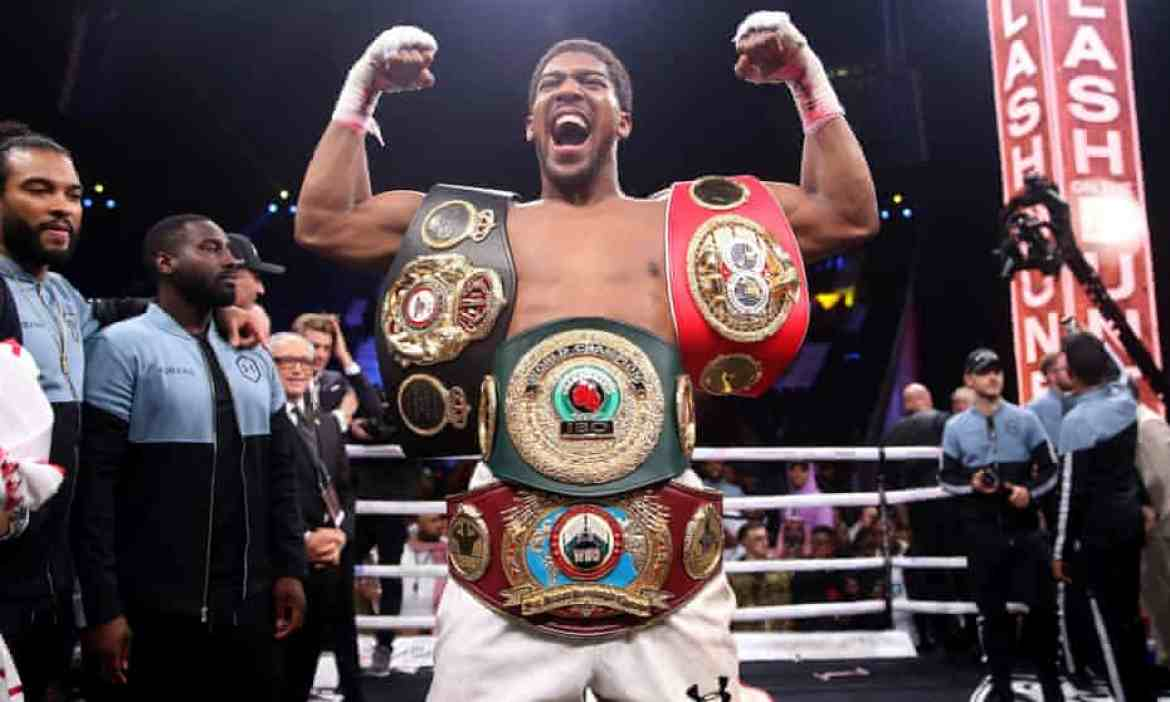 Anthony Joshua fights for Matchroom and Eddie Hearn and is next due to fight Oleksandr Usyk.