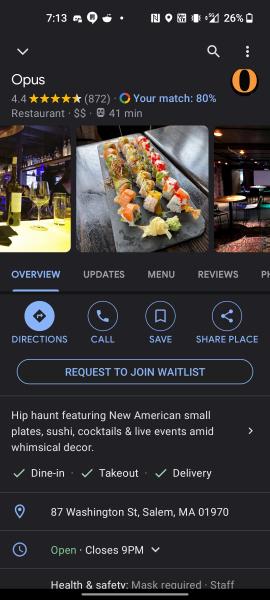 Google Duplex restaurant waitlist
