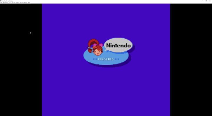 SNES9X emulator screen.