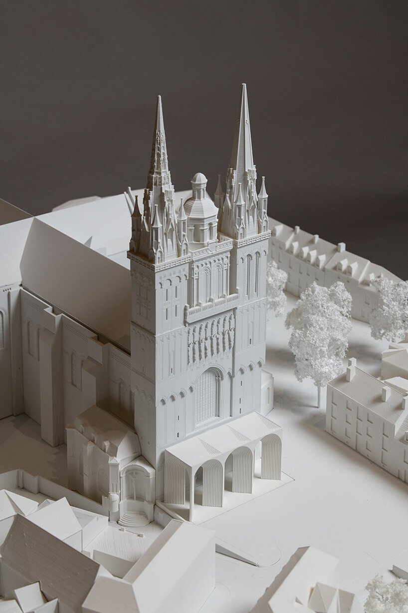 kengo kuma to preserve historic cathedral in angers, france with contemporary intervention