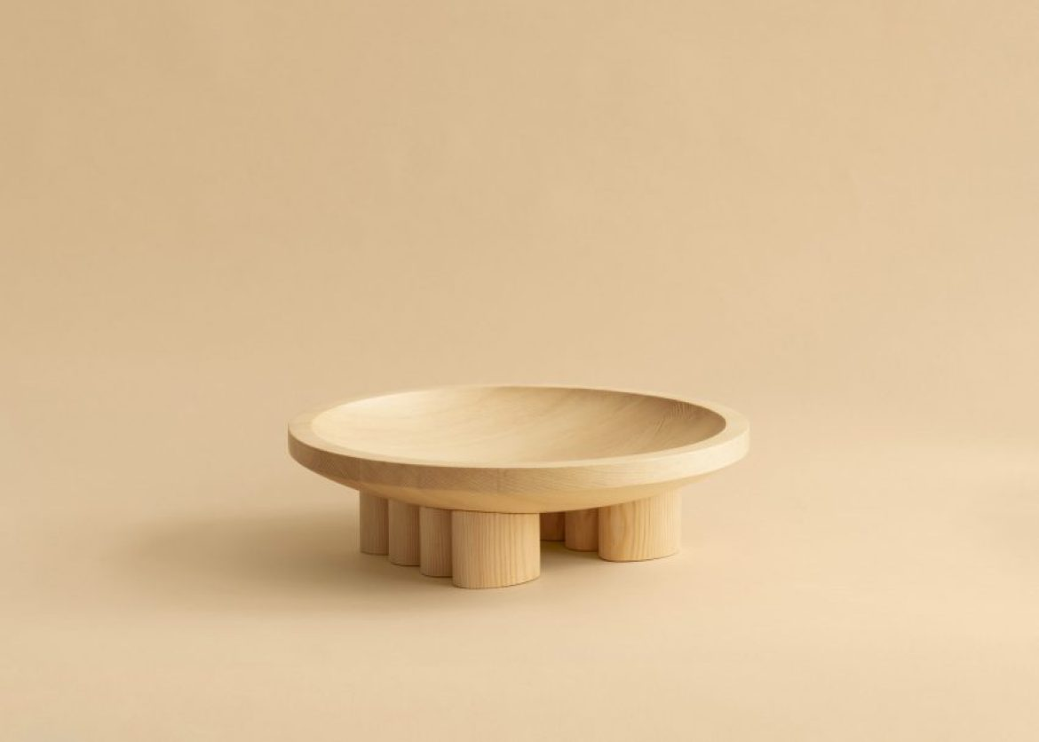 A wooden bowl by Mac Collins