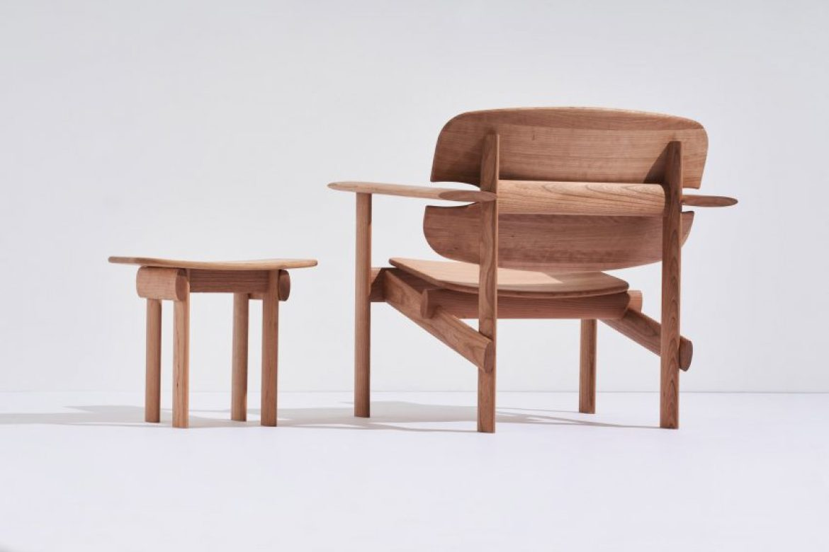 Mac Collins' Concur chair and side table