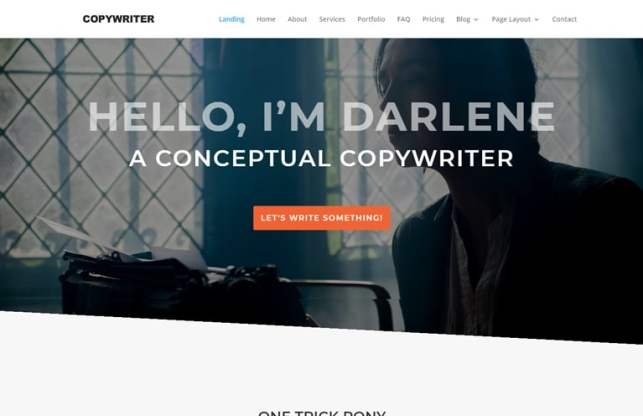Copywriter WordPress theme