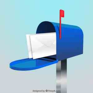 blue mailbox background with envelopes 23 2147612309