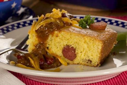 Hot Dog Cornbread Casserole