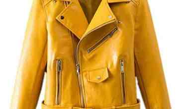 Yellow Leather Jacket worn by Veronica Fisher Shanola Hampton Shameless 67cdeb70