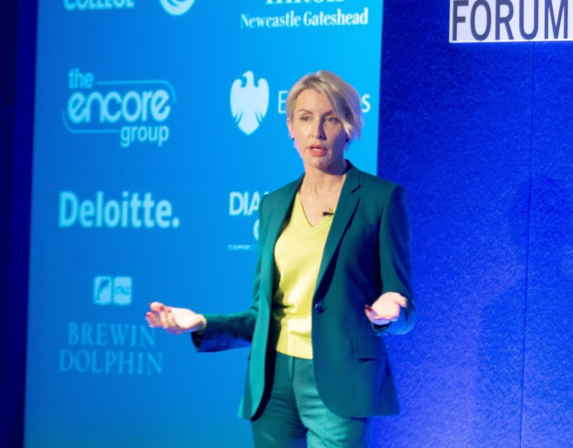 Heather Mills urges regional business leaders to 'make a difference'