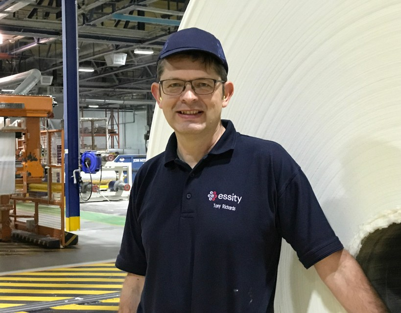 Former site manager takes over the reins at global tissue manufacturer